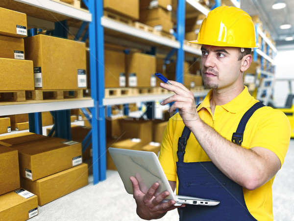 labor work in warehouse Stock photo © tiero