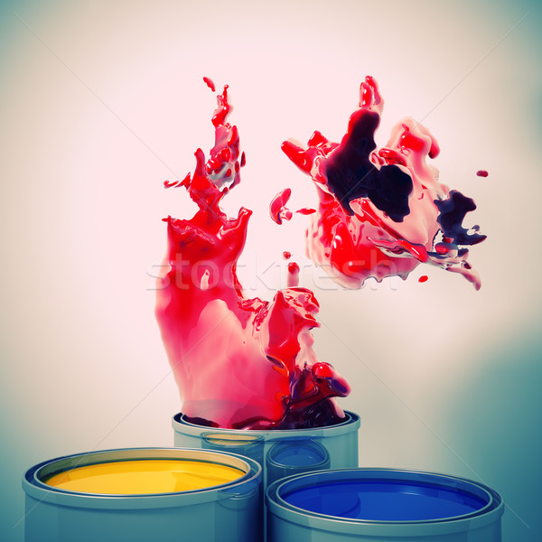 explosion of colour Stock photo © tiero
