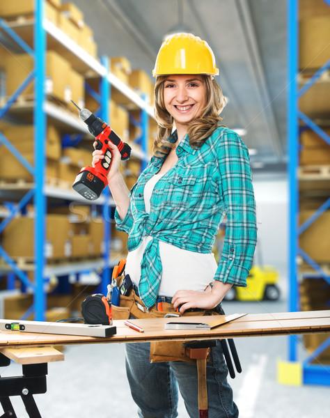 worker in warehouse Stock photo © tiero