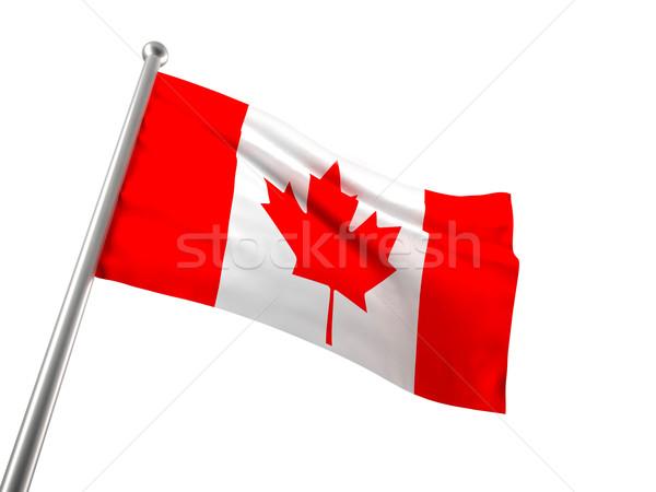 カナダの国旗 カナダ フラグ 孤立した 白 葉 ストックフォト © tiero