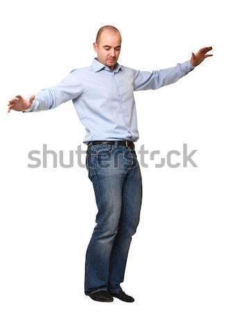 man try to balance himself Stock photo © tiero