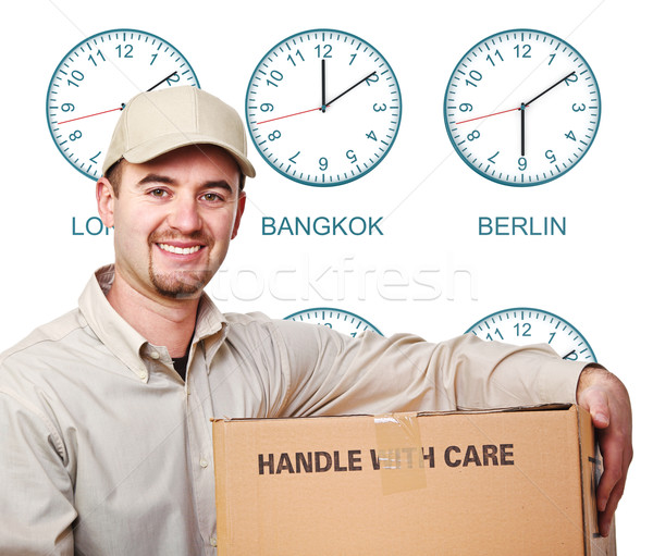 time zone delivery man Stock photo © tiero
