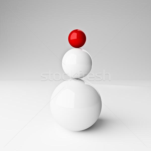 Сток-фото: успех · баланса · 3D · мяча