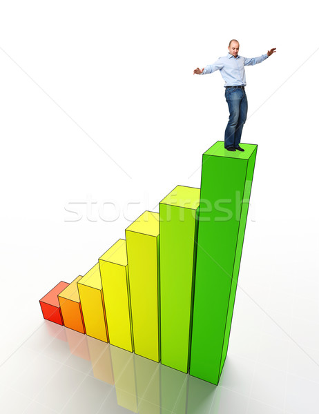man on eco stat Stock photo © tiero