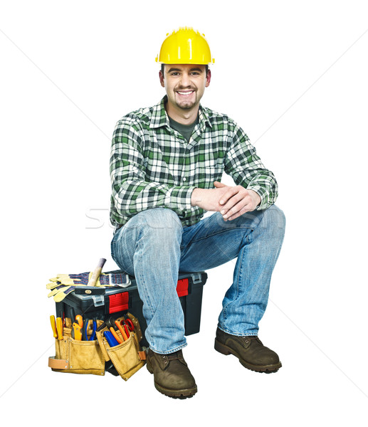 young manual worker and toolbox Stock photo © tiero