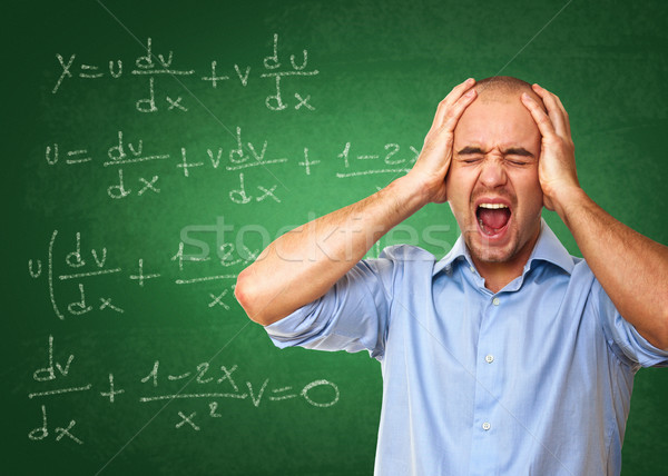 Stock photo: stress at school