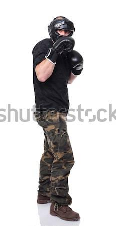 caucasian fighter Stock photo © tiero