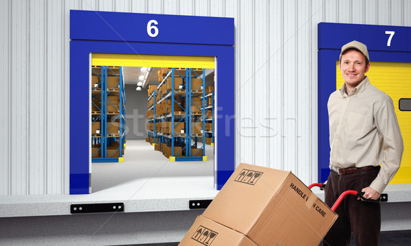 deliveryman Stock photo © tiero