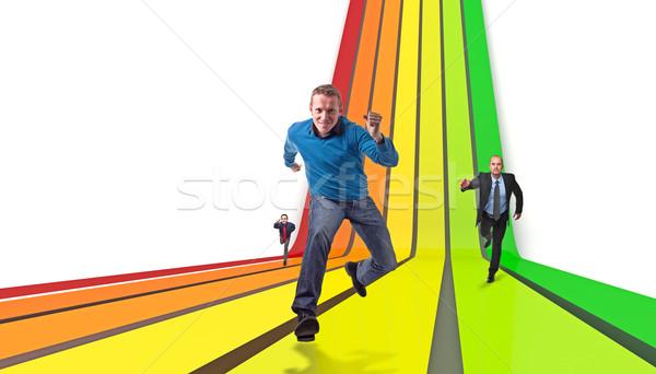 Energiczny uruchomić ludzi biznesu faktyczny człowiek sportu Zdjęcia stock © tiero
