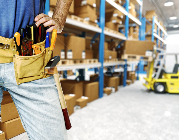 worker in warehouse Stock photo © tiero