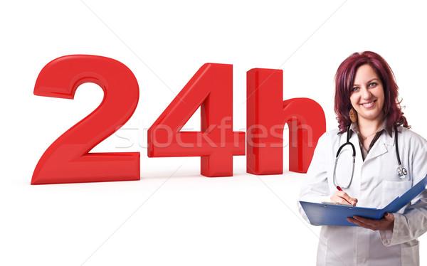 24 dienst 3D afbeelding vrouw arts Stockfoto © tiero