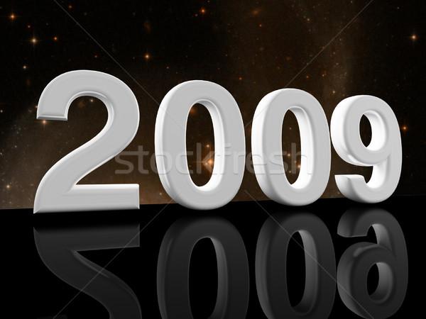 2009 kép 3D ünneplés buli absztrakt Stock fotó © tiero