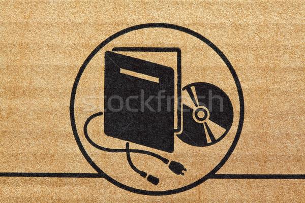 electronic mark on cardboard Stock photo © tiero