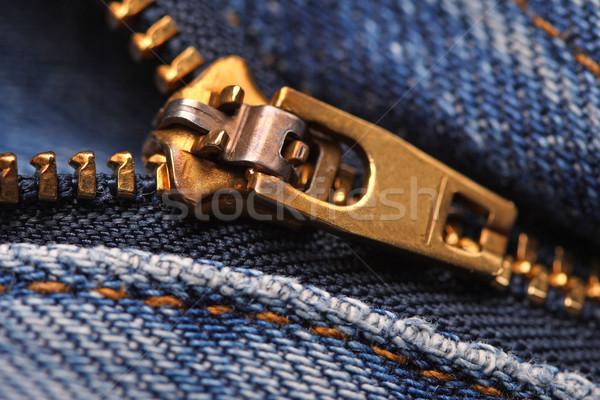 image of classic jeans zip  Stock photo © tiero