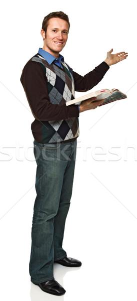 Постоянный молодые учитель изображение кавказский Сток-фото © tiero