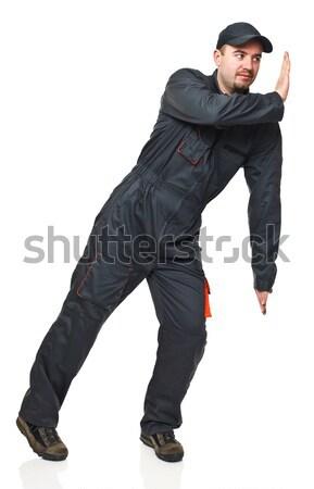 Pracownika pozycja odizolowany Zdjęcia stock © tiero