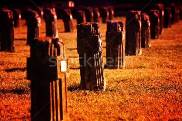 graveyard in crespi d'adda Stock photo © tiero