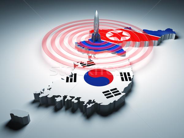 warning zone of korea Stock photo © tiero