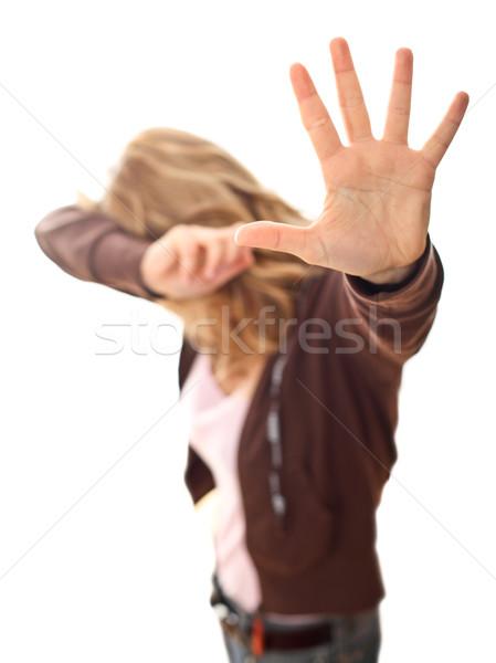 Violencia mujer atención selectiva imagen nina Foto stock © tiero