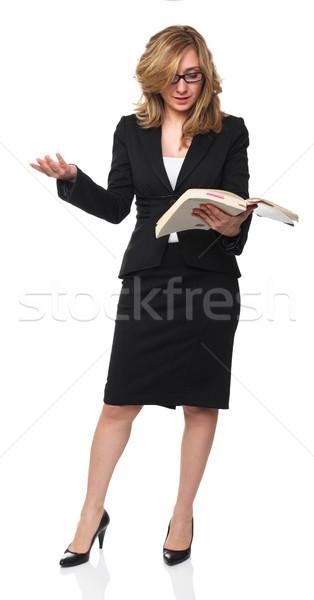 教師 肖像 立って 小さな ブロンド 義務 ストックフォト © tiero