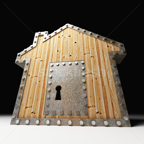 safe wood house Stock photo © tiero