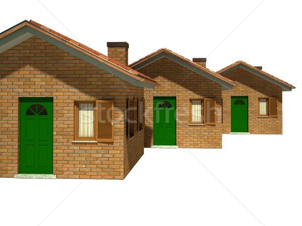 Stock photo: isolated houses model