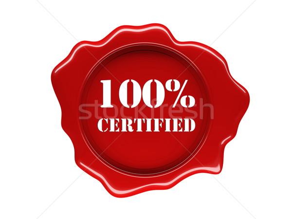 wax seal certified Stock photo © tiero
