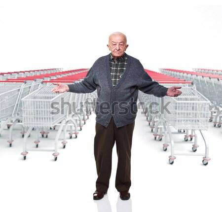 ショッピング マニア 笑顔の女性 3D ビジネス 肖像 ストックフォト © tiero