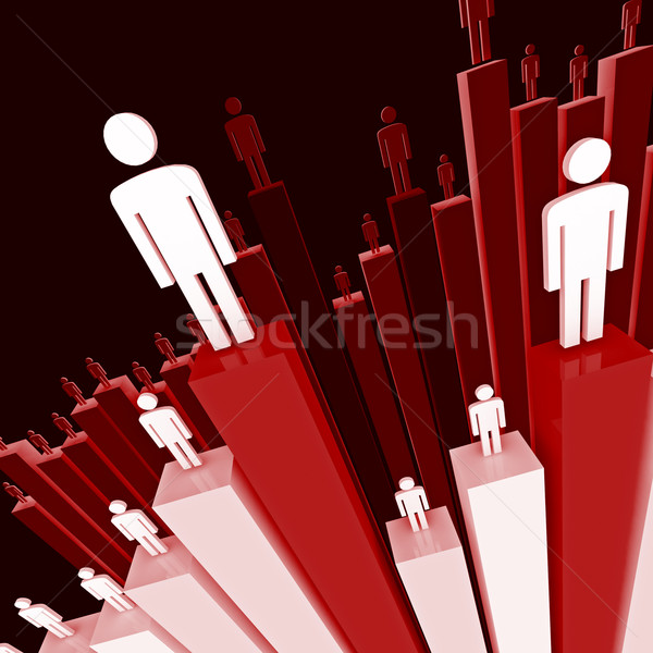 people stat background Stock photo © tiero