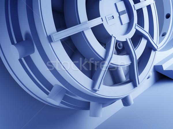 Bank agykoponya ajtó 3D részlet fém Stock fotó © tiero