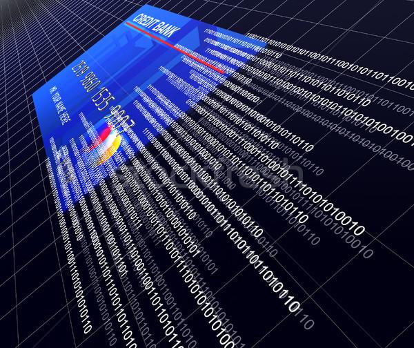 電子 ビジネス レンダー 3D クレジットカード ストックフォト © tiero