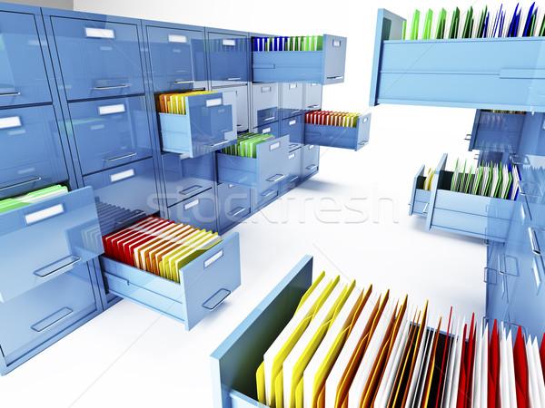 file cabinet 3d Stock photo © tiero
