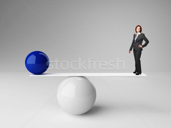 Foto d'archivio: Non · equilibrio · 3D · immagine · palla