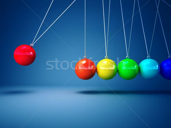 rainbow newton cradle Stock photo © tiero