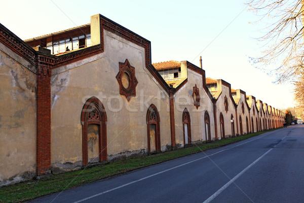 Oude fabriek ruïneren Italië unesco plaats Stockfoto © tiero