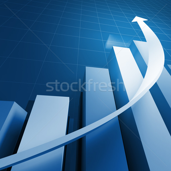 blue stat business background Stock photo © tiero