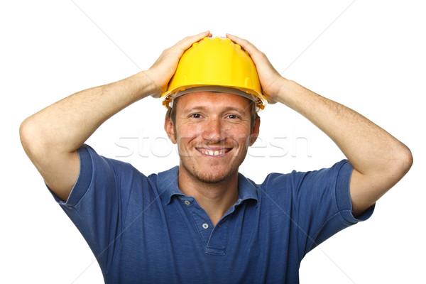 Veiligheid eerste glimlachend werknemer portret Stockfoto © tiero