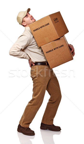 delivery man with back pain Stock photo © tiero