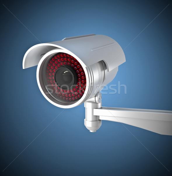 Cctv 3D imagem clássico infravermelho tecnologia Foto stock © tiero