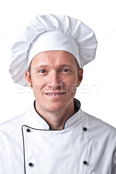 シェフ 肖像 白人 男 ユニフォーム 笑顔 ストックフォト © tiero