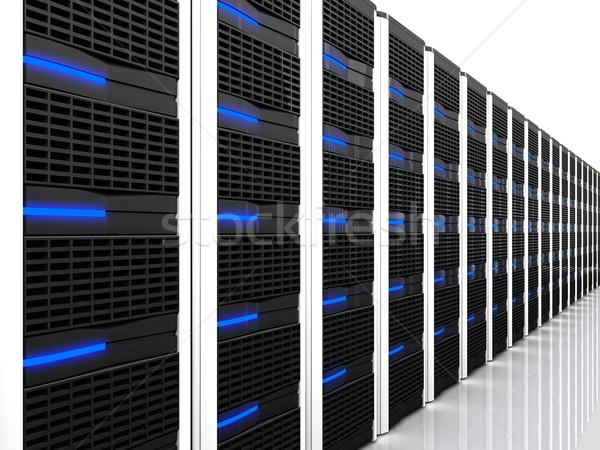 Siyah 3D Sunucu görüntü teknoloji ağ Stok fotoğraf © tiero