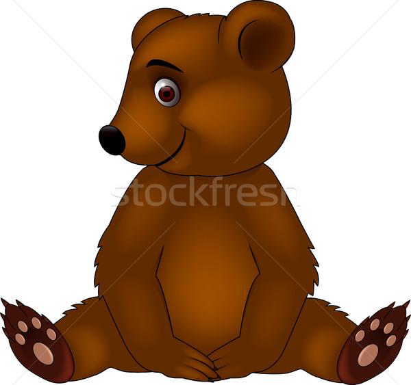Divertente · baby orso cartoon amore design