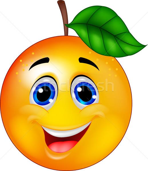 Narancs rajzfilmfigura étel boldog szemek farm Stock fotó © tigatelu