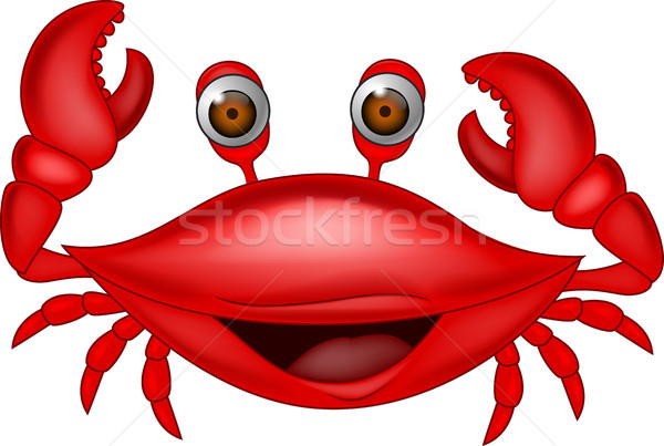 Funny crab cartoon Stock photo © tigatelu