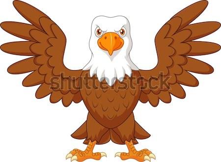 Eagle cartoon waving Stock photo © tigatelu