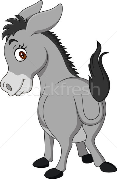 Cartoon happy donkey showing ass Stock photo © tigatelu
