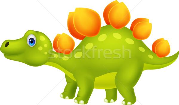 Cute stegosaurus cartoon Stock photo © tigatelu