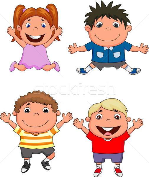 счастливым дети улыбка лице школы моде Сток-фото © tigatelu