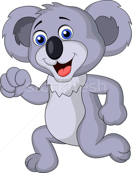 Cute koala running Stock photo © tigatelu