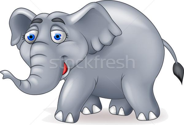Elefante Cartoon bebé feliz naturaleza nino Foto stock © tigatelu